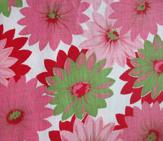 antiquefabric-pinkgreendaisies
