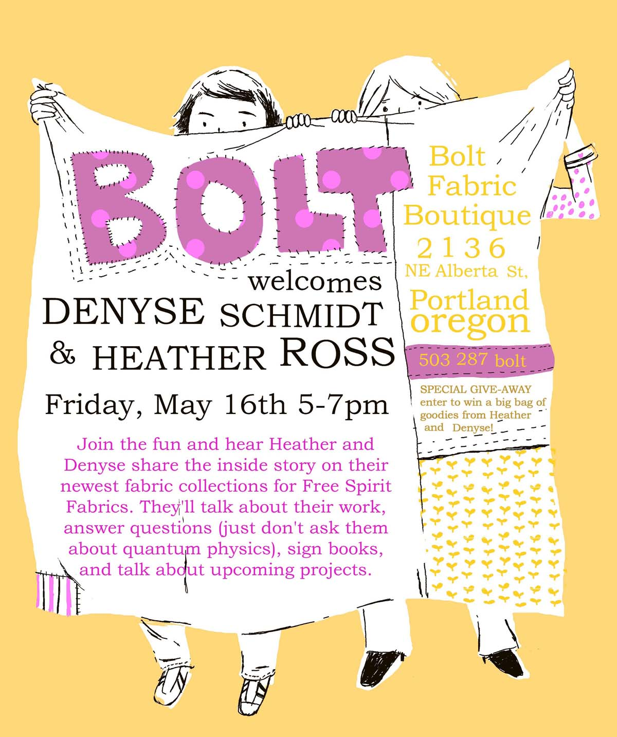 heather ross and denyse schmidt at bolt
