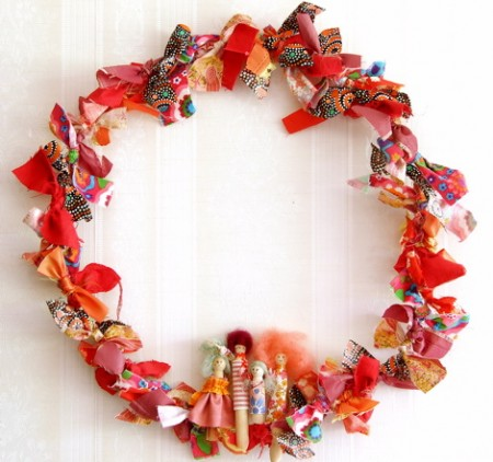new sew fabric wreath