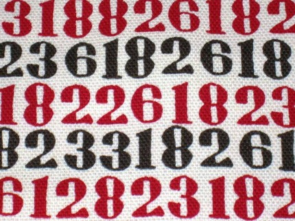 numbers fabric from this and that from japan