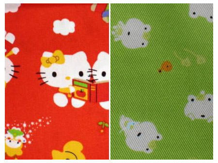 cute sanrio and san-x fabrics from this and that from japan