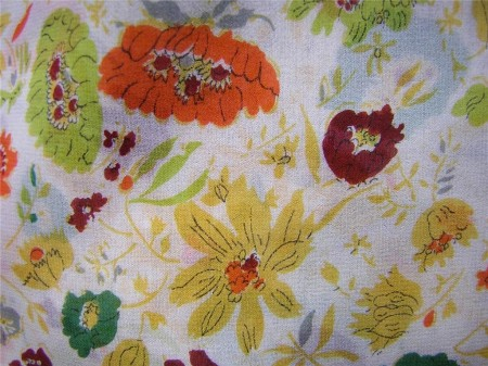 vintage floral silk