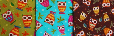Amy Schimler Owl Fabric