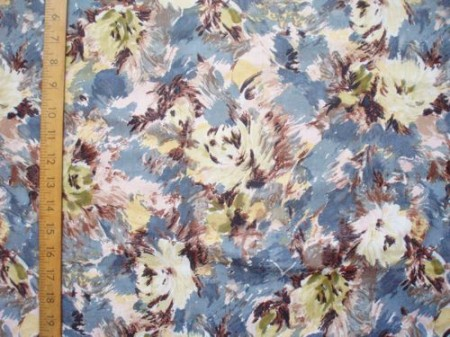 painted floral fabric