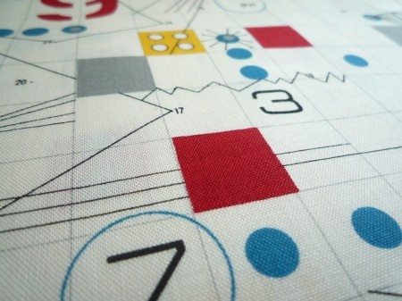 numbers drafting geometric japanese fabric