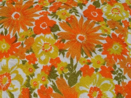 Floral vintage 70s Terrycloth 