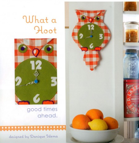 What a Hoot! This owl clock project is a standout from Dozens of Ways to Repurpose a Tea Towel.
