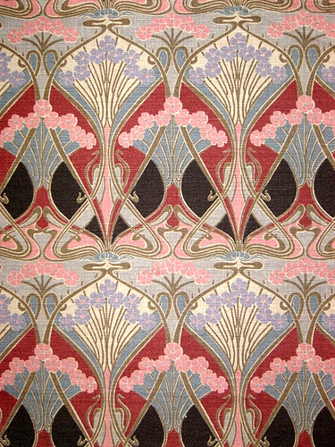 Liberty furnishing fabrics lasenby ianthe flower linen for Art deco style fabric