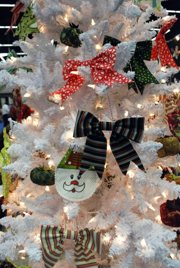Bows on white tree