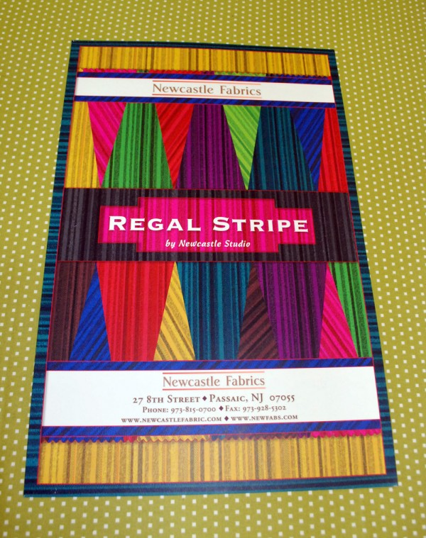 Regal stripe sample cards